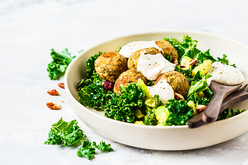 Baked Chickpea balls without breadcrumbs recipe