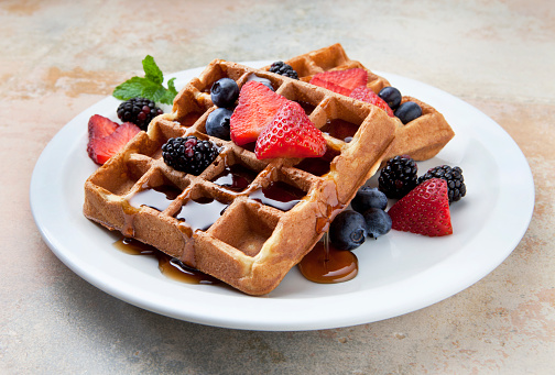 One ingredient healthy homemade Belgian waffle recipe